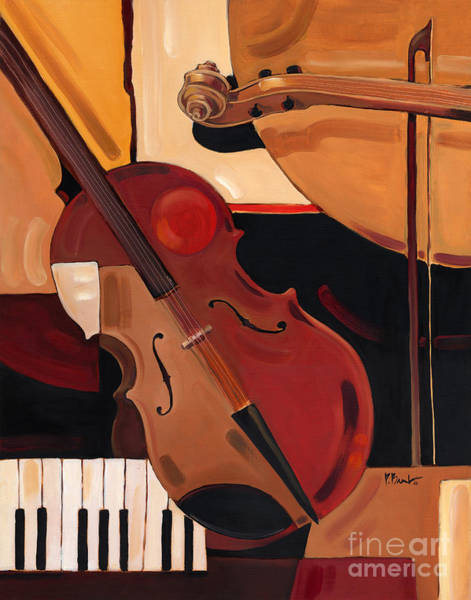 Sax Painting - Abstract Violin  by Paul Brent