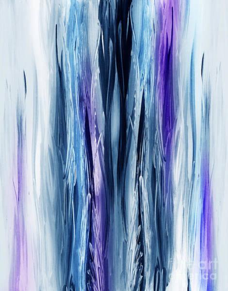 Abstract Waterfall Purple Flow Art Print