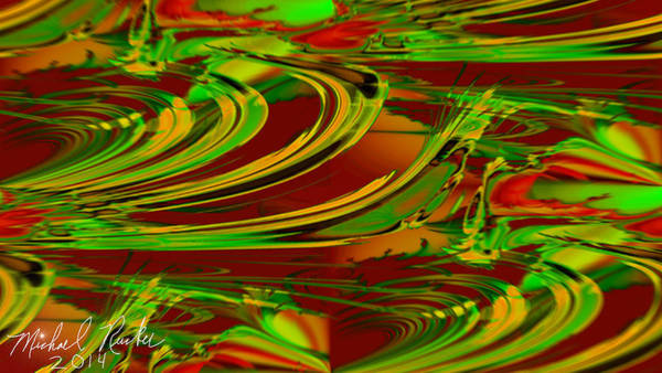 Digital Art - Abstract Waves by Michael Rucker