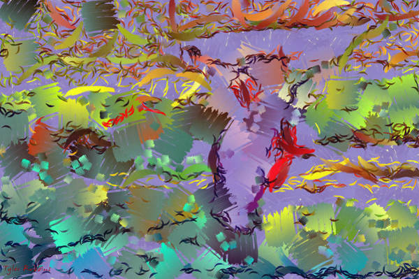 Painting - Abstract With Colors by Tyler Robbins