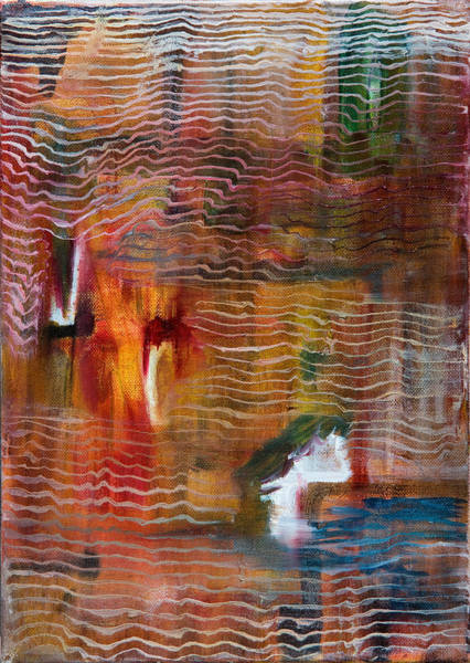 Generative Painting - Abstract With Lines by Cathal Lindsay