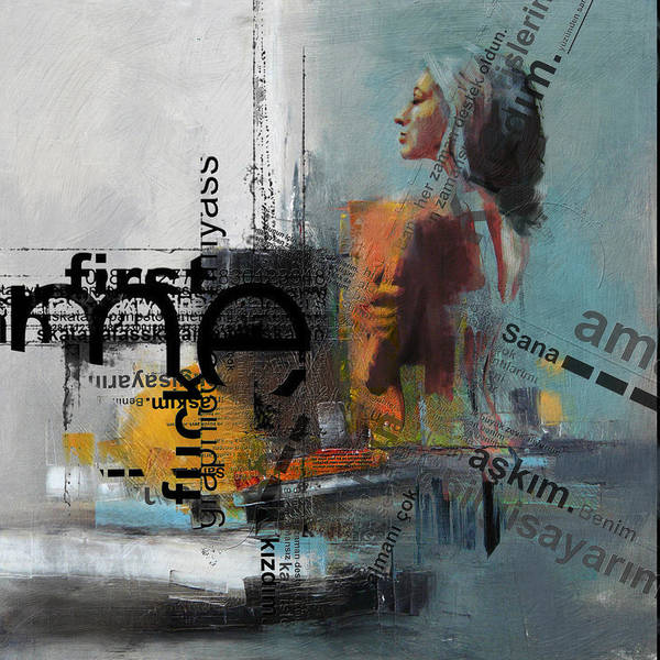 Conceptual Wall Art - Painting - Abstract Women 013 by Corporate Art Task Force