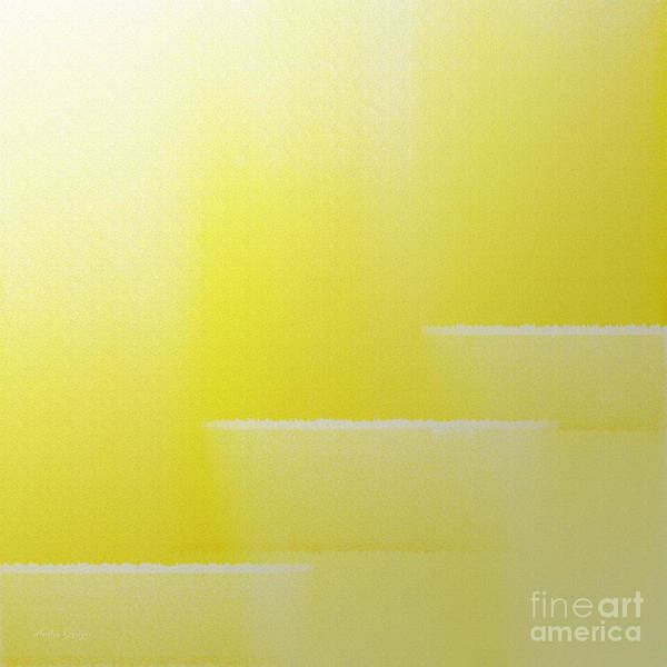 Digital Art - Abstract Yellow 2 Square by Andee Design
