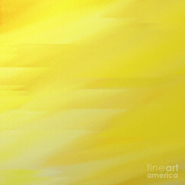 Digital Art - Abstract Yellow 3 Square by Andee Design