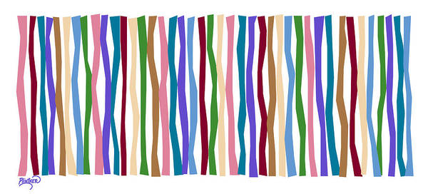 Vertical Line Digital Art - Santa Monica Color Sticks  by Patricia Lintner