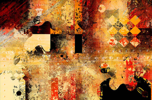Variance Collection Digital Art - Abstracture - 103106046f by Variance Collections