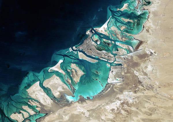 Satellite Image Wall Art - Photograph - Abu Dhabi by Planetobserver