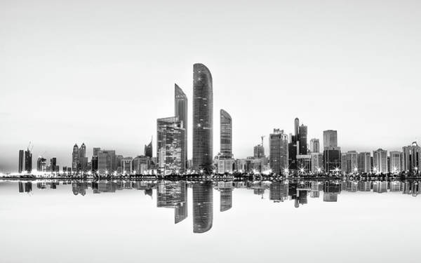 Abu Dhabi Urban Reflection Art Print
