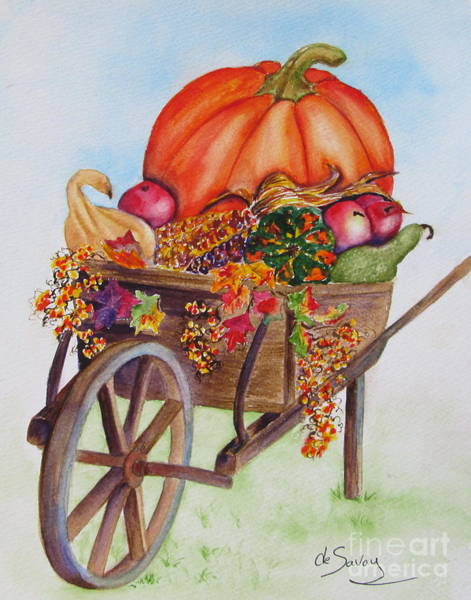 Winter Squash Painting - Abundance  by Diane DeSavoy