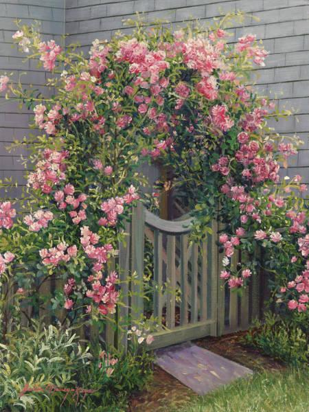 Arbor Painting - Abundance Of Roses by Julia O'Malley-Keyes