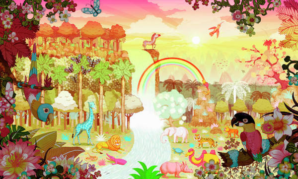 Exuberance Photograph - Abundant Colorful Tropical Jungle by Ikon Ikon Images