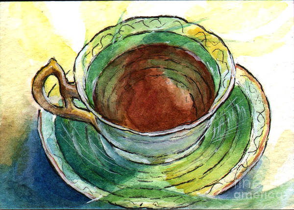 Atc Painting - Ac323 Cup Of Tea by Kirohan Art