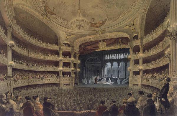 Chandelier Painting - Academie Imperiale De Musique Paris by Louis Jules Arnout