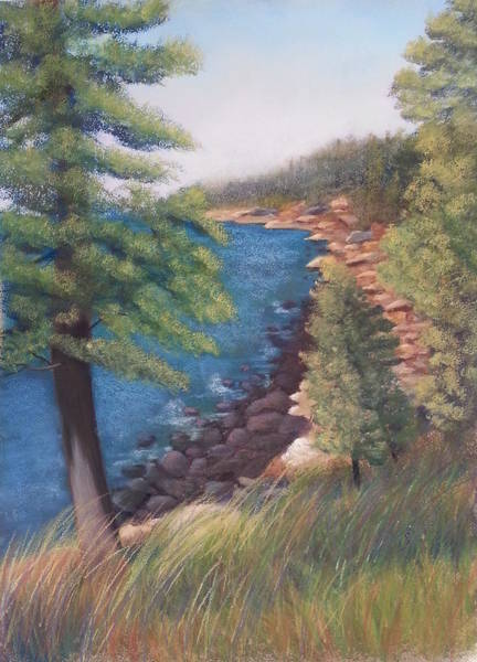 Pastel - Acadia Morning by Carol Corliss