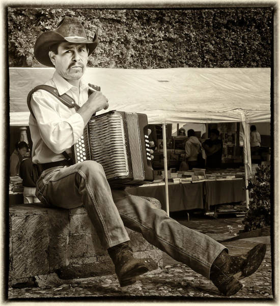 Photograph - Accordian Player by Barry Weiss