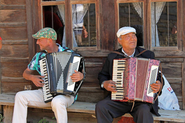 Photograph - Accordionists In Jervana by Tony Murtagh
