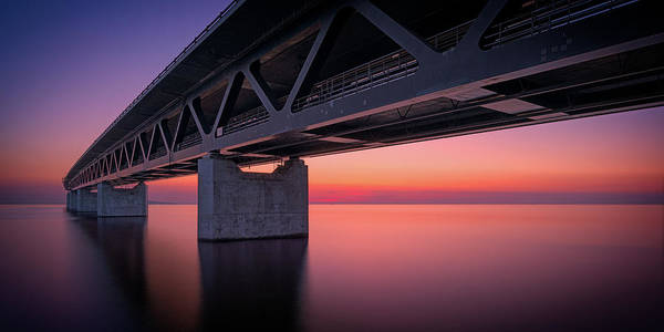 Skane Photograph - Accurate Concrete - The Öresund Bridge by Magnus Larsson