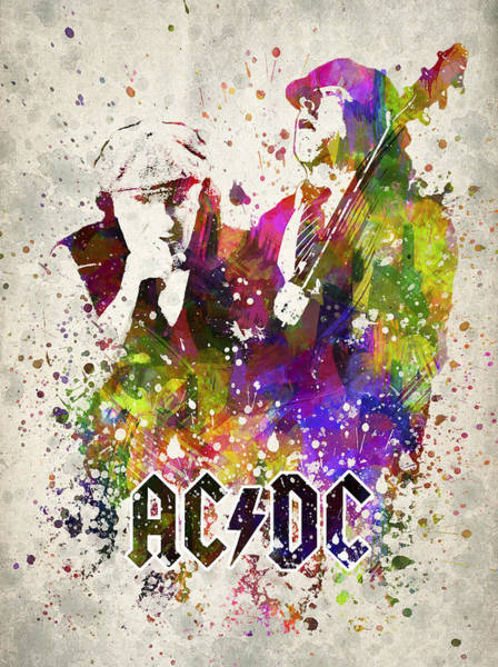 Wall Art - Digital Art - Acdc In Color by Aged Pixel