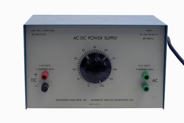 Current Photograph - Ac/dc Variable Power Supply Unit by Science Stock Photography/science Photo Library