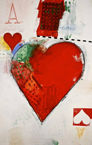 Painting - Ace Of Hearts 8-52 by Cliff Spohn