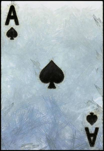 Riverboat Painting - Ace Of Spades by Dan Sproul