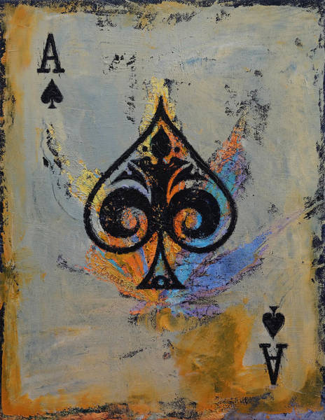 Spade Painting - Ace by Michael Creese
