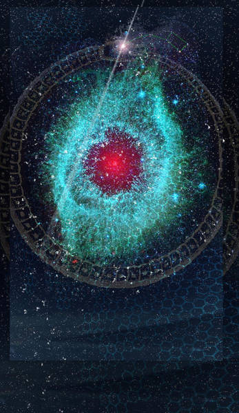 Painting - Ace Of Wands/stars - Art From The Science Tarot by Janelle Schneider