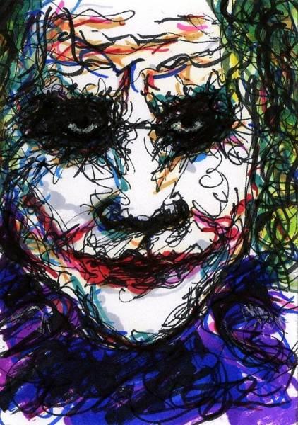 Drawing - Aceo Joker Iv by Rachel Scott