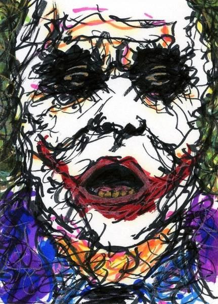 Drawing - Aceo Joker Vi by Rachel Scott