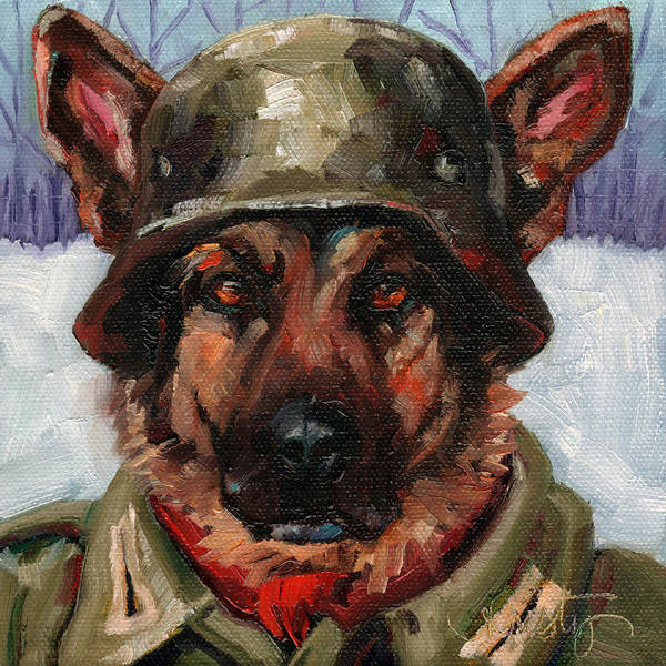 Wall Art - Painting - Ach Der Lieber Hund by Kristy Tracy
