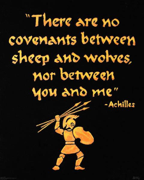 Achilles Admonition Art Print