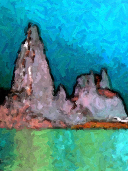 Acid Lake Art Print