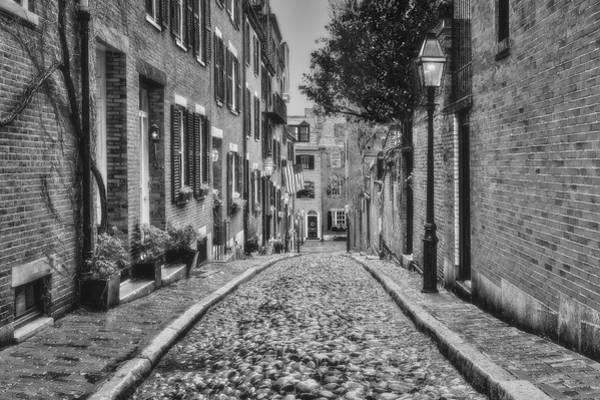 Photograph - Acorn Street Boston Bw by Susan Candelario