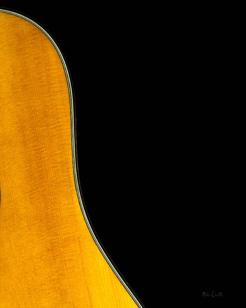 Fender Photograph - Acoustic Curve In Black by Bob Orsillo