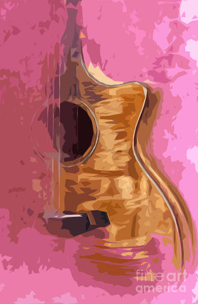 Acoustic Bass Wall Art - Digital Art - Acoustic Guitar 2 by Drawspots Illustrations