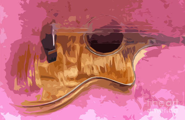 Acoustic Bass Wall Art - Digital Art - Acoustic Guitar 4 by Drawspots Illustrations