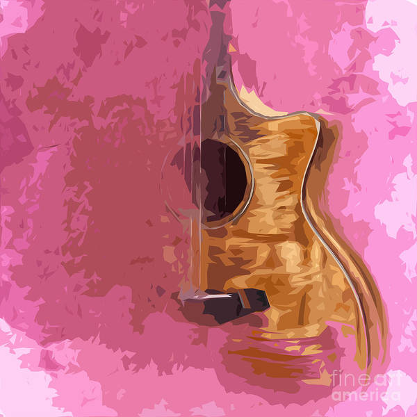 Acoustic Bass Wall Art - Digital Art - Acoustic Guitar 5 by Drawspots Illustrations