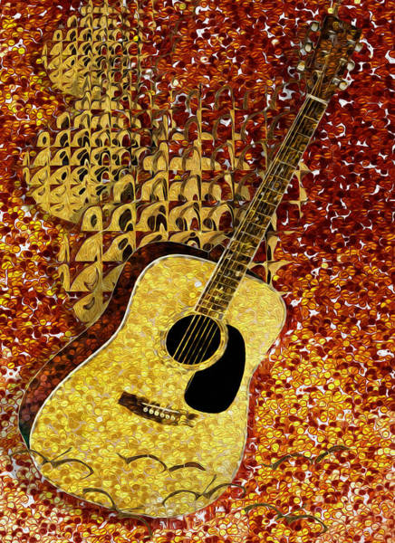 Wall Art - Painting - Acoustic Guitar by Jack Zulli