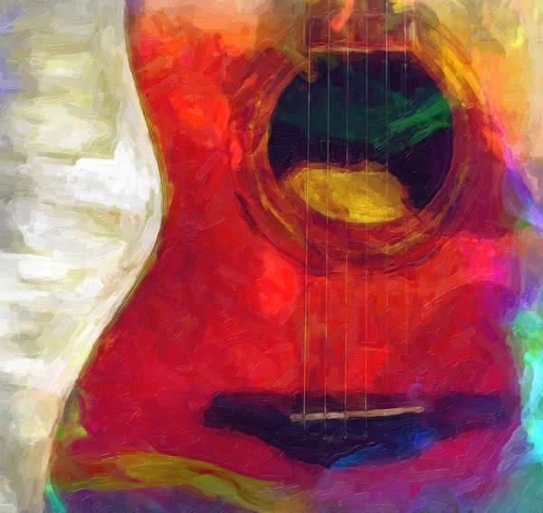 Digital Art - Acoustic Guitar by Rick Wicker
