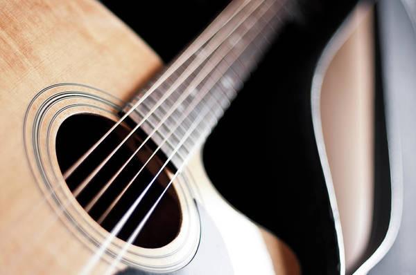 Acoustic Guitar Photograph - Acoustic Western Guitar by Daitozen