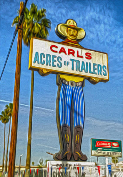 Painting - Acres Of Trailers 2 by Gregory Dyer