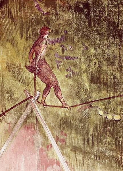 Trapeze Painting - Acrobat On Tightrope by Henri de Toulouse Lautrec