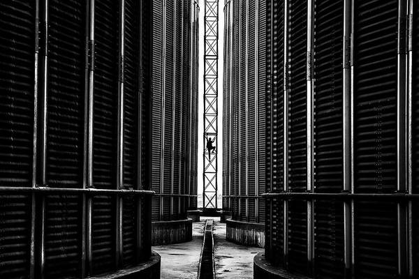 Silo Photograph - Acrobatics by ?irin Akt?rk