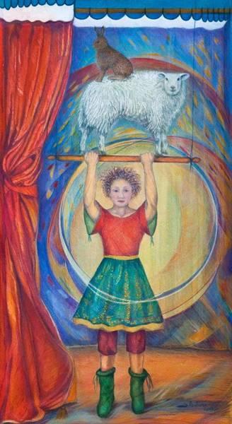 Acrobat Photograph - Acrobats, 2013 Watercolour And Pastel by Silvia Pastore