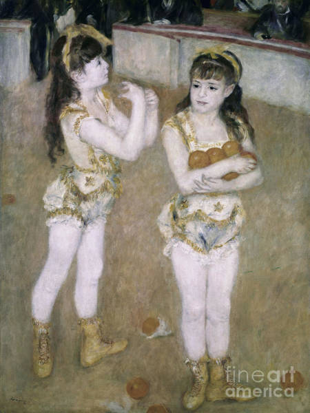 Acrobat Wall Art - Painting - Acrobats At The Cirque Fernand by Pierre Auguste Renoir