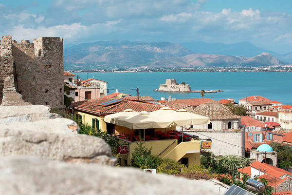 Peloponnese Photograph - Acronauplia Wall, Old Town And Bourdzi by Holger Leue