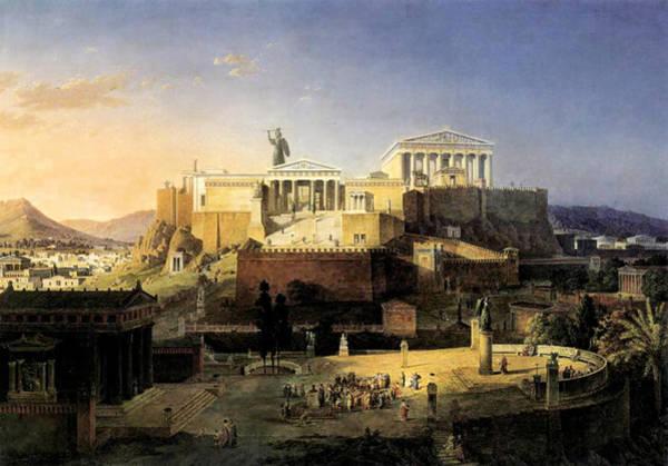 Acropolis Of Athens Art Print