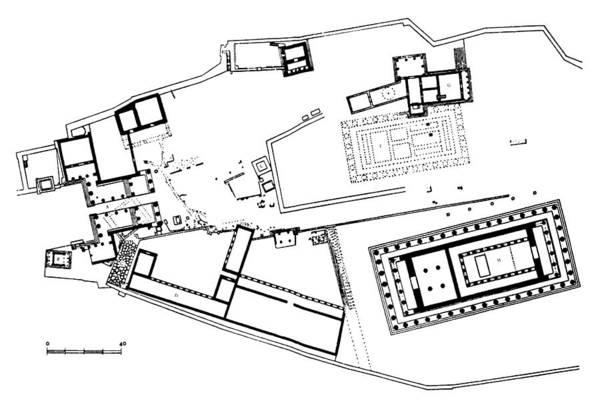 Erechtheion Photograph - Acropolis Plan by Granger