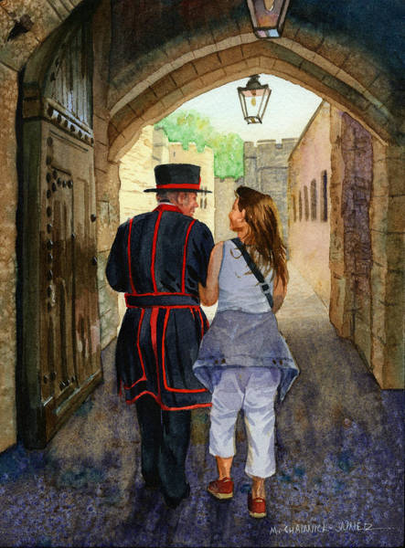 Tunnel Painting - Across The Ages by Marguerite Chadwick-Juner