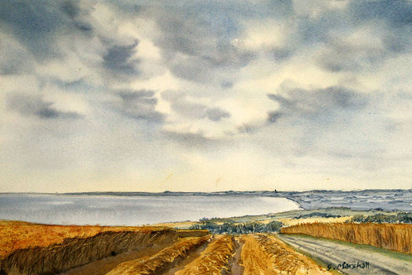 Painting - Across The Bay To Barmston by Glenn Marshall